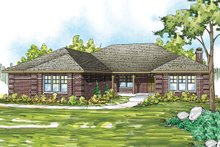 Dream House Plan - Traditional Exterior - Front Elevation Plan #124-885