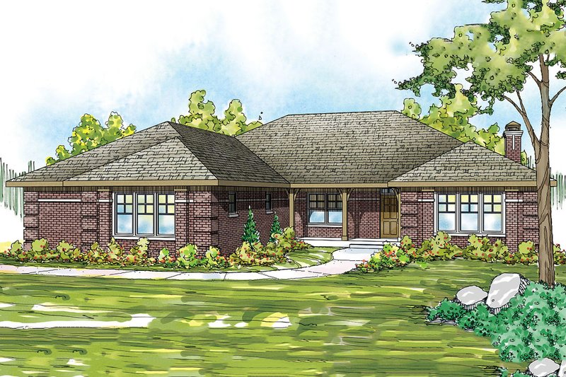 Traditional Style House Plan - 3 Beds 2.5 Baths 2370 Sq/Ft Plan #124-885 Exterior - Front Elevation