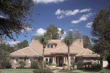 House Plan Design - Mediterranean Exterior - Front Elevation Plan #417-746