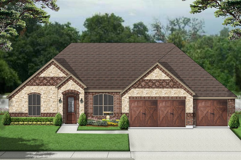 European Exterior - Front Elevation Plan #84-589