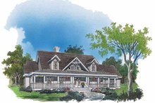 Country Exterior - Front Elevation Plan #929-432