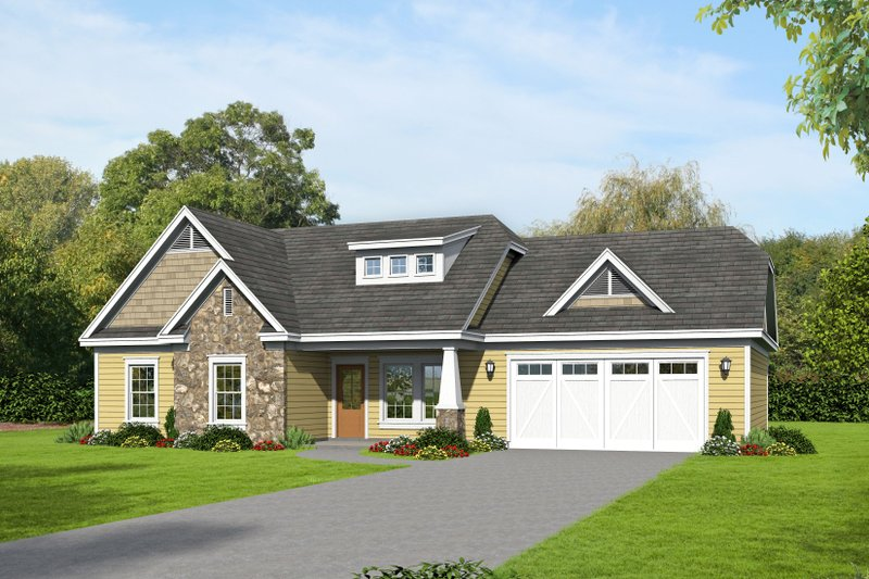 Home Plan - Craftsman Exterior - Front Elevation Plan #932-205