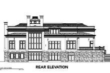 Classical Exterior - Rear Elevation Plan #119-205