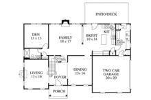 Colonial Floor Plan - Main Floor Plan Plan #1053-61