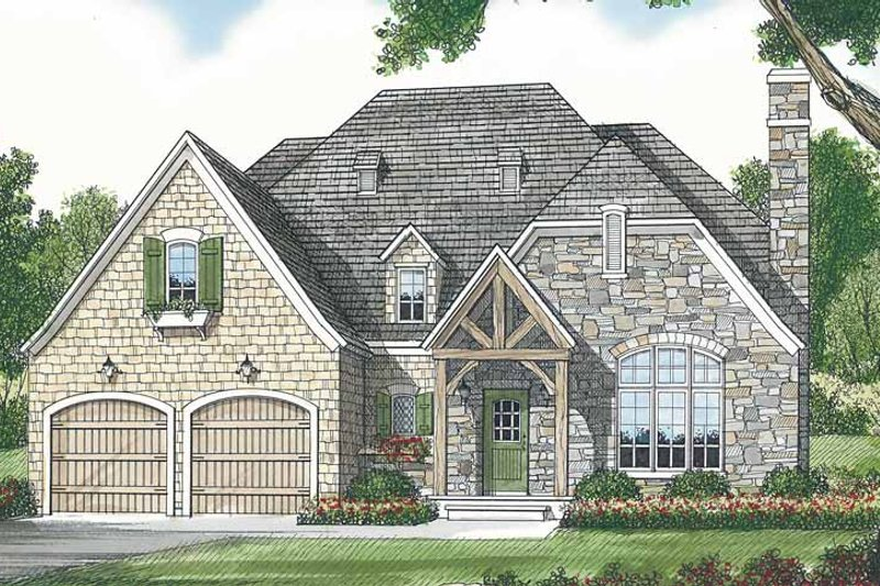 Architectural House Design - Country Exterior - Front Elevation Plan #453-442
