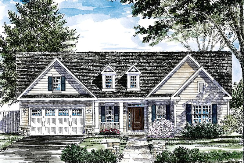 Dream House Plan - Ranch Exterior - Front Elevation Plan #316-286