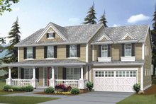 Architectural House Design - Traditional Exterior - Front Elevation Plan #132-379