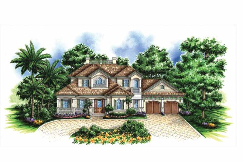 Traditional Exterior - Front Elevation Plan #1017-131 - Houseplans.com