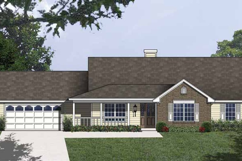 Traditional Exterior - Front Elevation Plan #40-498 - Houseplans.com