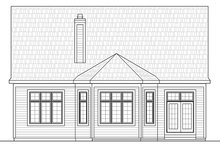 House Plan Design - Country Exterior - Rear Elevation Plan #20-2253
