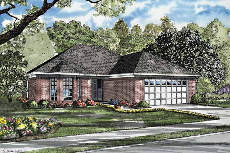 Ranch Exterior - Front Elevation Plan #17-3200