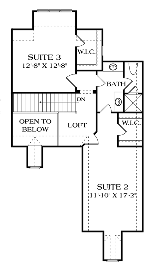 European Floor Plan - Upper Floor Plan Plan #453-624