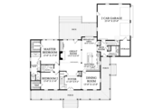 Traditional Style House Plan - 4 Beds 3 Baths 2556 Sq/Ft Plan #137-367 Floor Plan - Main Floor Plan