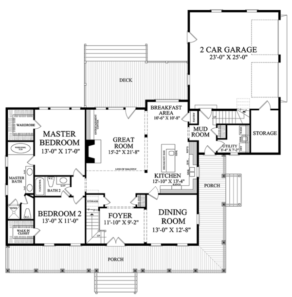 Traditional Floor Plan - Main Floor Plan #137-367