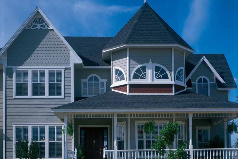 Dream House Plan - Victorian Exterior - Front Elevation Plan #417-667