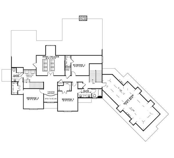 European Floor Plan - Upper Floor Plan Plan #17-2380