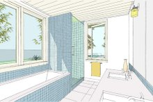 House Plan Design - Ranch Interior - Master Bathroom Plan #445-5