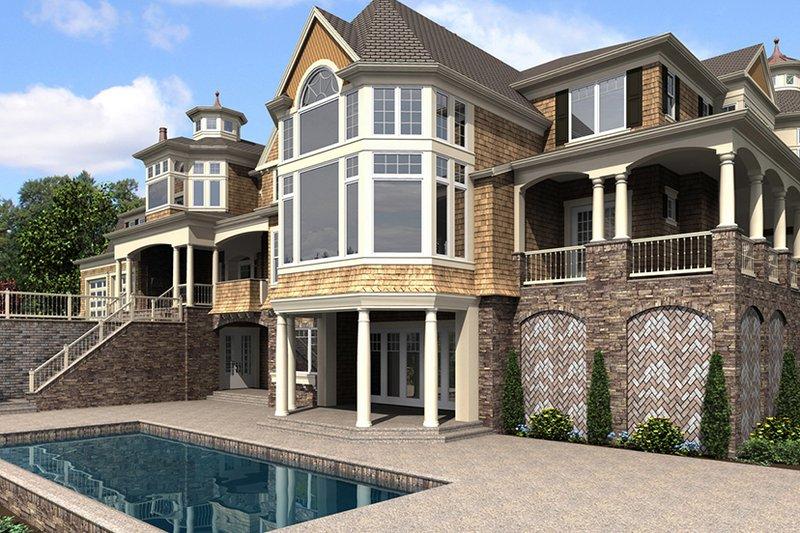 Craftsman Exterior - Rear Elevation Plan #132-565 - Houseplans.com