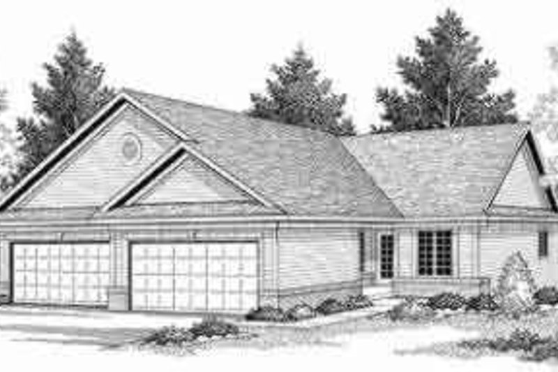 Home Plan - Traditional Exterior - Front Elevation Plan #70-655