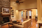 Country Style House Plan - 3 Beds 2.5 Baths 2170 Sq/Ft Plan #927-150 Interior - Family Room