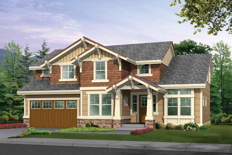 Home Plan - Craftsman Exterior - Front Elevation Plan #132-303