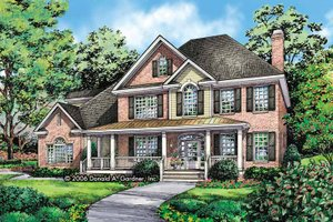 Traditional Exterior - Front Elevation Plan #929-801