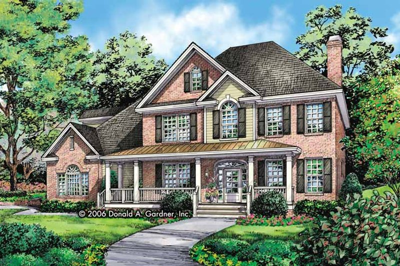House Plan Design - Traditional Exterior - Front Elevation Plan #929-801