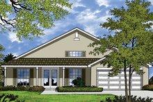 Architectural House Design - Mediterranean Exterior - Front Elevation Plan #417-844