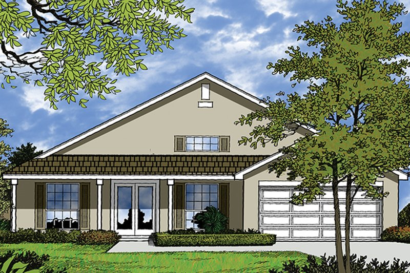 Mediterranean Exterior - Front Elevation Plan #417-844