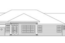 Home Plan - Craftsman Exterior - Rear Elevation Plan #124-754