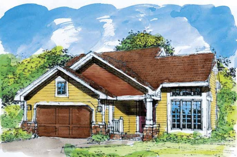Craftsman Exterior - Front Elevation Plan #320-568