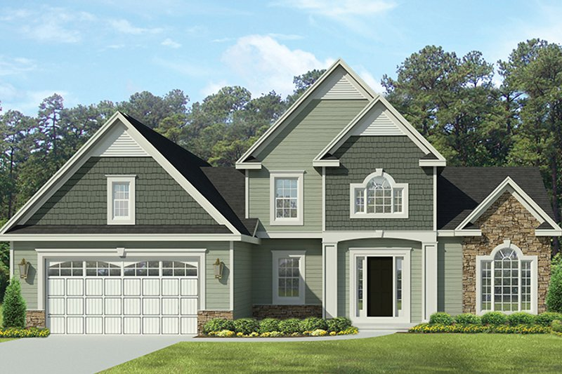 Traditional Exterior - Front Elevation Plan #1010-140 - Houseplans.com