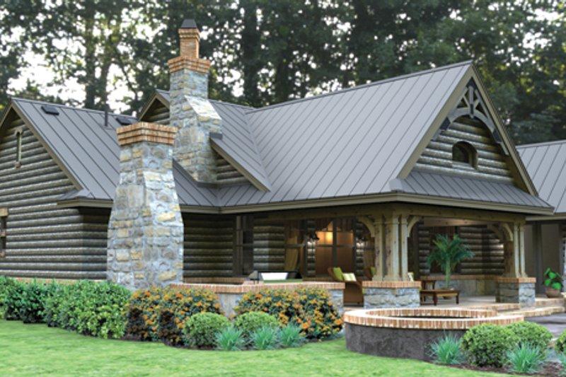 Bungalow Exterior - Rear Elevation Plan #120-245 - Houseplans.com