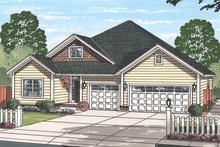 Country Exterior - Front Elevation Plan #513-2167