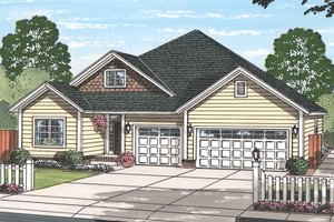 House Design - Country Exterior - Front Elevation Plan #513-2167