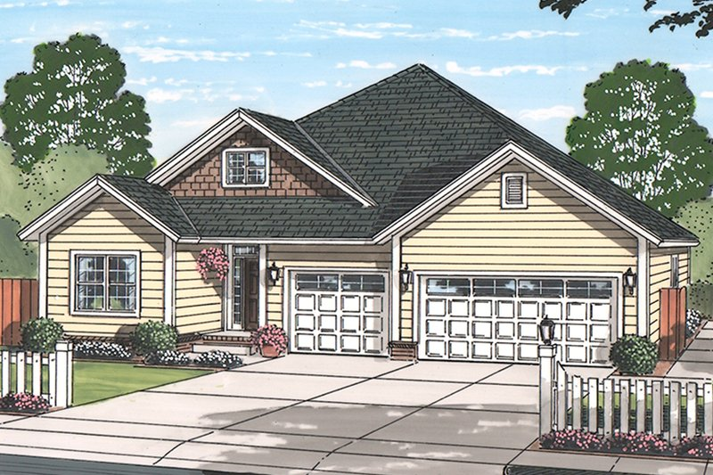 Architectural House Design - Country Exterior - Front Elevation Plan #513-2167