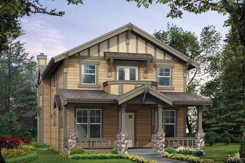 Craftsman Exterior - Front Elevation Plan #132-296 - Houseplans.com