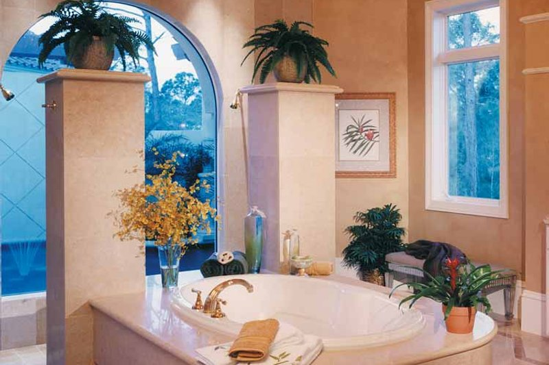 Mediterranean Interior - Bathroom Plan #930-256 - Houseplans.com