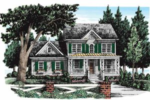Dream House Plan - Country Exterior - Front Elevation Plan #927-272