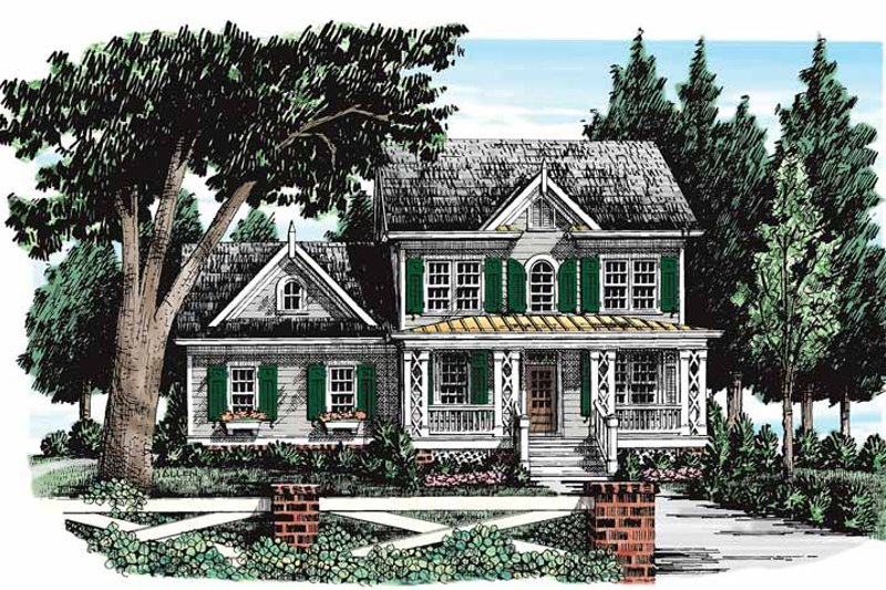 Country Exterior - Front Elevation Plan #927-272