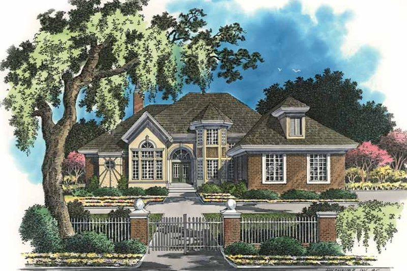 Architectural House Design - Traditional Exterior - Front Elevation Plan #930-43