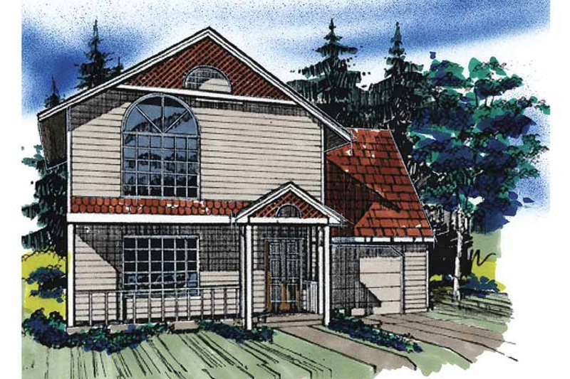 Traditional Exterior - Front Elevation Plan #509-85