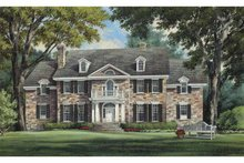 Dream House Plan - Colonial Exterior - Front Elevation Plan #137-357