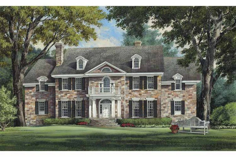 Colonial Exterior - Front Elevation Plan #137-357 - Houseplans.com