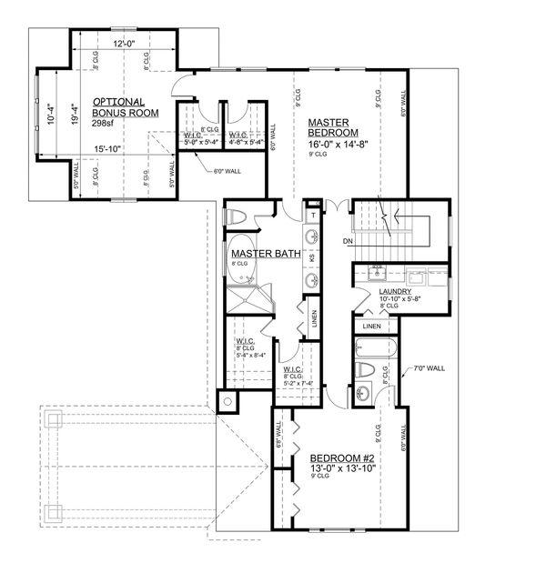 Home Plan - Bungalow Floor Plan - Upper Floor Plan #30-339