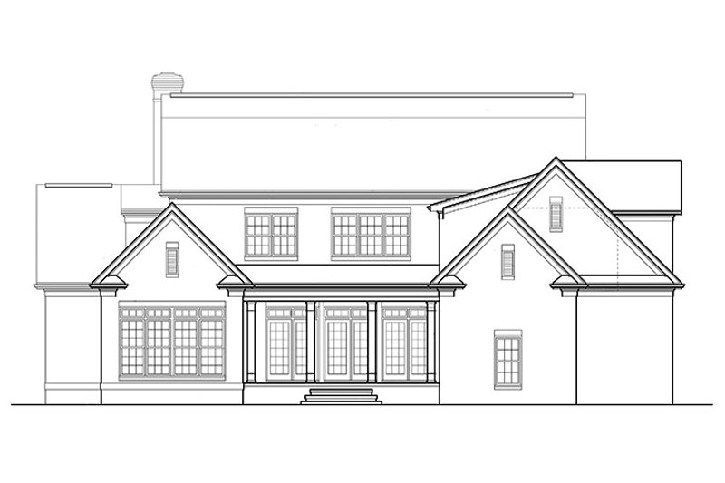 Classical Exterior - Rear Elevation Plan #453-427 - Houseplans.com