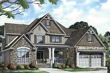 Architectural House Design - Country Exterior - Front Elevation Plan #17-2678