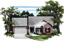 Ranch Exterior - Front Elevation Plan #927-147