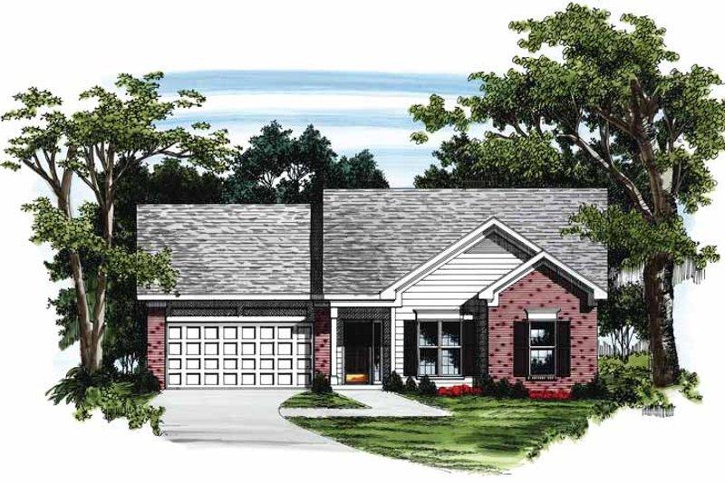Ranch Exterior - Front Elevation Plan #927-147 - Houseplans.com