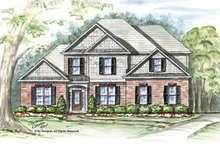 Craftsman Exterior - Front Elevation Plan #54-306